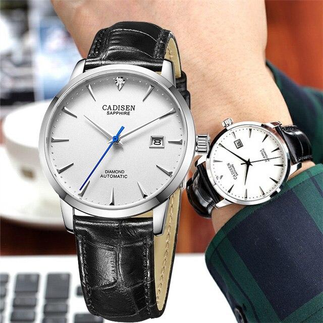 2018 CADISEN montre mécanique hommes marque de luxe montres automatiques saphir montre-bracelet homme affaires étanche Reloj Hombre