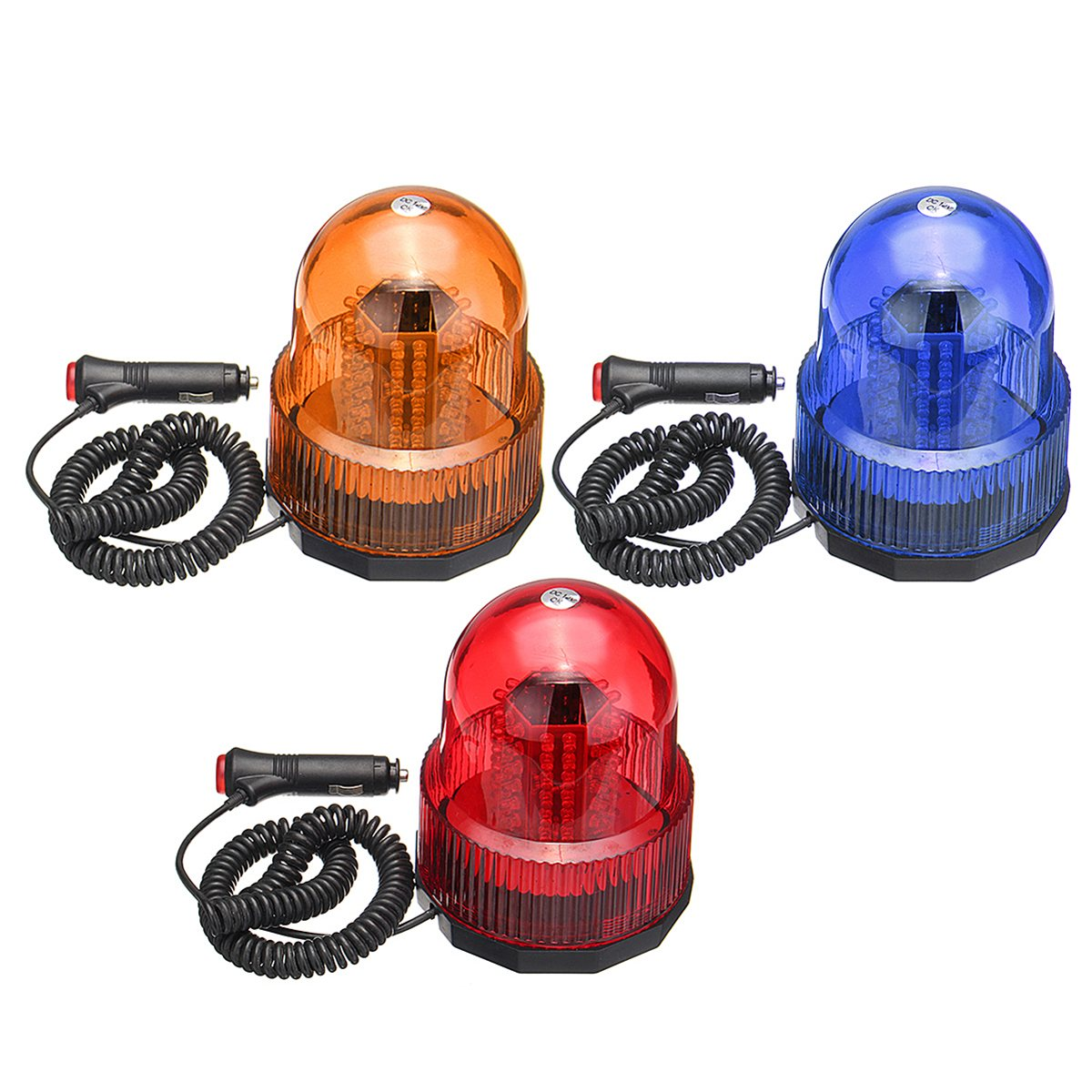 NEW 12V Car Magnetic Beacon Rotating Revolving Strobe Flash Warning Alarm LED Light Roadway Safety