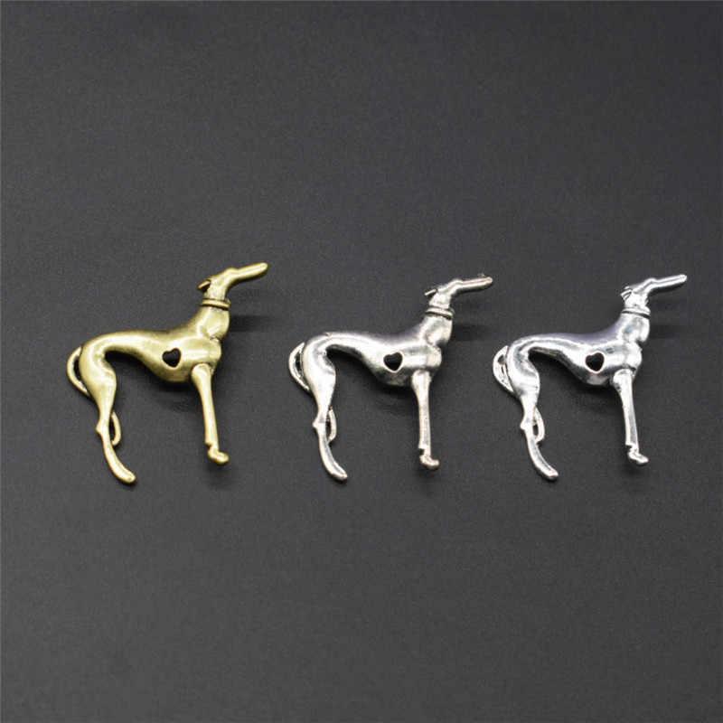 חדש בציר טרנדי איטלקי גרייהאונד שרשרת אופנה SLOUGHI תכשיטי ספרדית גריי Hhound ויפט תליון שרשרת נשים