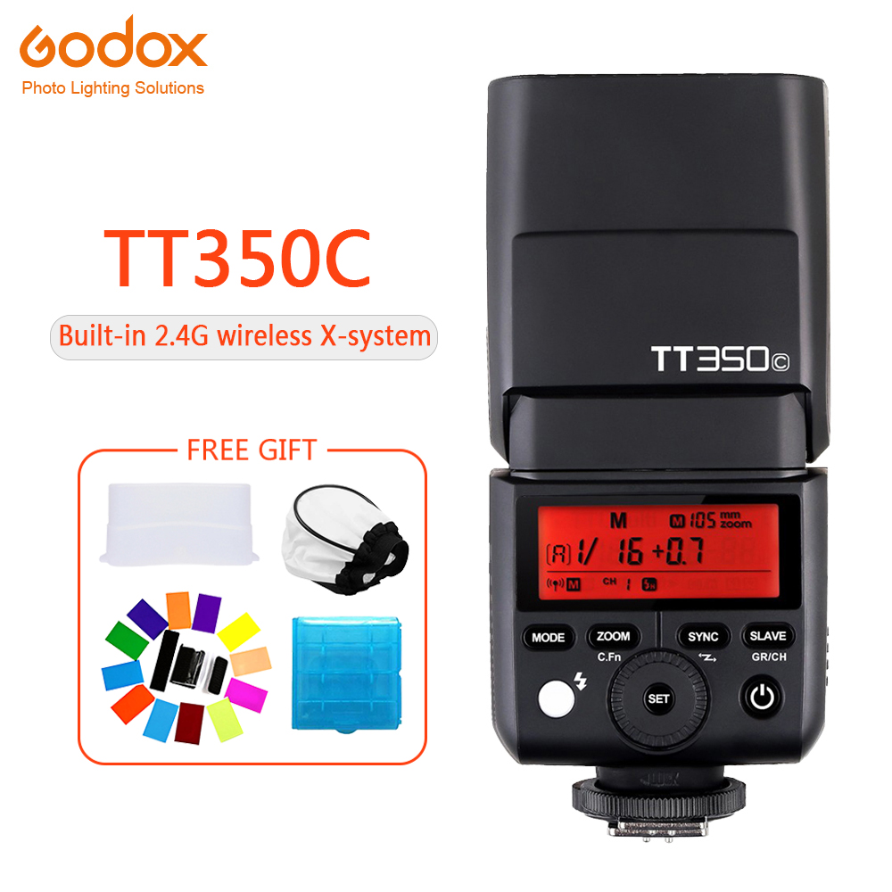 <font><b>Godox</b></font> TT350 Mini TT350C Speedlite flash TTL HSS 1 / 8000s 2.4G Wireless Camera photography for Canon EOS 5D 6D 60D 600D 7D image