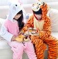2015 Hot Sale Children Flannel Pajamas Cute Cartoon Sleepwear Baby Boys&Girls Bodysuits Autumn&Winter Home Clothing for 95-145cm
