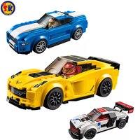 SK Novo Ano de 4 Carros de Velocidade Esportes de Alta Qualidade de Plástico Crianças Blocos de Construção de Brinquedos Adultos