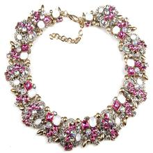 2016 New Fashion crystal chain Choker Za Big Brand Shourouk Necklaces & Pendants Multicolored Statement Luxury fine jewelry