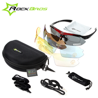 ROCKBROS Cycling Sunglasses Women Men Bicycle Bike Glasses 5 Lens Sport Polarized UV400 Proof Eyewear Oculos