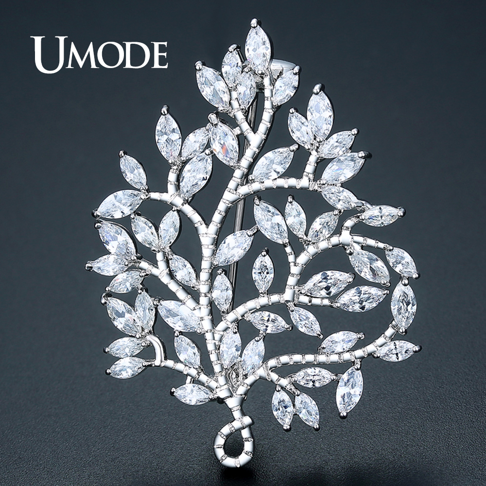 UMODE Large Vintage Maple Leaf Brooch Pin Plant Costume Jewelry For Women Wedding Party Banquet Brooches Christmas Gifts UX0032 umode new pearl brooch jewelry for women large rhinestone crystal flower brooches and pin wedding smowflake collar brooch ux0007