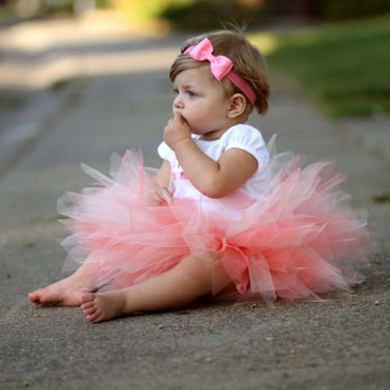Cute Kids Girls Toddler Baby Bow Flower Tutu Skirts Photography Princess Skirt