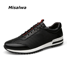Misalwa 2017 Atmungsaktive Sommer Männer Casual Leder Schuhe Neuen Britischen Freizeit Weichen Außerhalb Männer Schuhe Große Größe 37-47