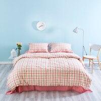 Everfly Новая мода геометрический на постельном наборе 4 шт. Англия сетки стиль простыни не выцветает хлопок кровать льняное постельное белье н