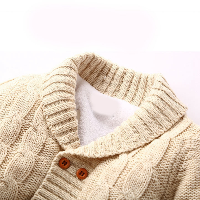 b0b749d63 Thick Cotton Warm Infant Baby Rompers Winter Clothes Newborn Baby Boy Girl  Knitted Sweater Jumpsuit Hooded. sku: 32841959549
