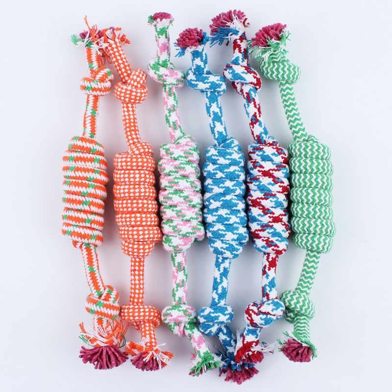 2 unids Cuerda De Algodón Para Mascotas Perro de Juguete Para Mascotas Juguetes