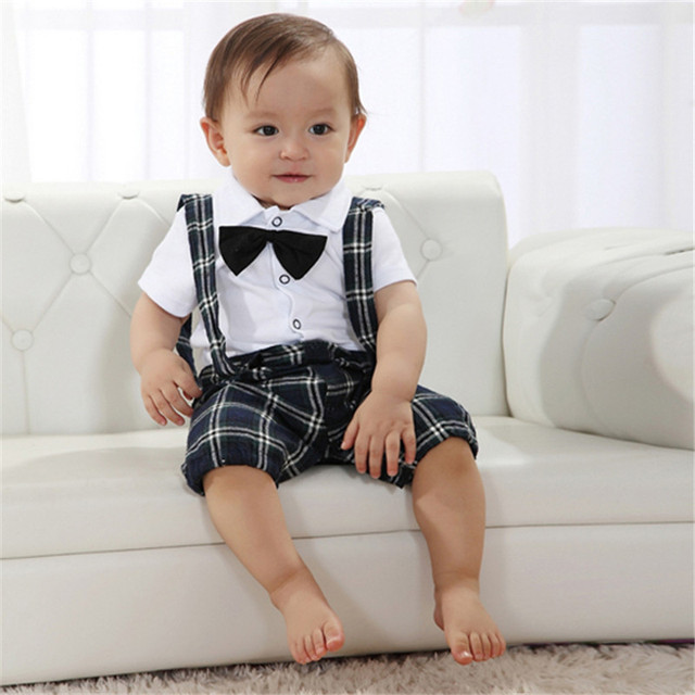 8d827c7a894f7 Handsome Baby Boy Wedding Bow-tie Occasion Christening Tuxedo Suit Outfit +  Vest For 0-3Y