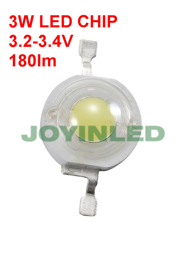 50pcs 10000k 12000K 180-200lm High Power LED chips 3w Cold Cool White LED diode 3.0-3.4V led spot lamp chips beads