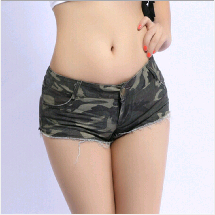 2019 New Fashion Summer Ladies Girls Low Waist Sexy Disco Dance Camouflage Patterns Fatigues Woman Tight Shorts Clothing Women