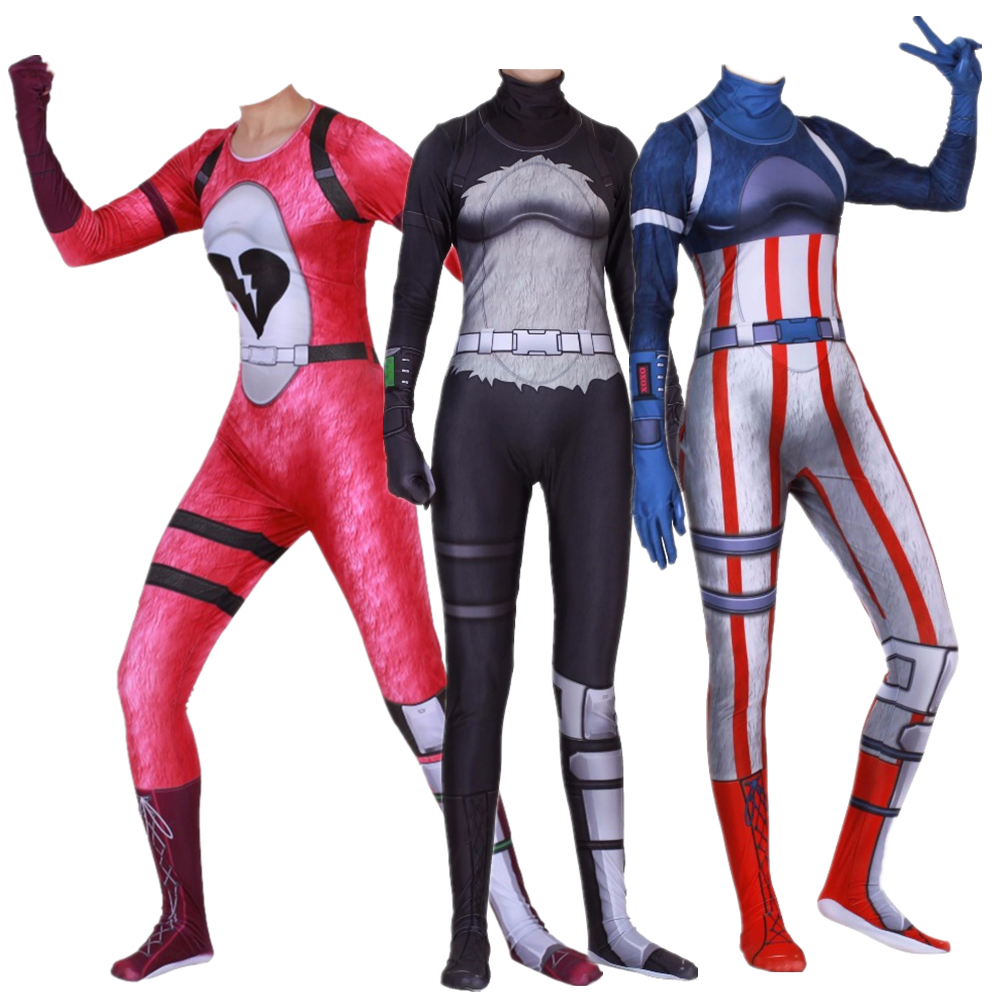 Women kids game cosplay costume bear panda cuddle fireworks team leader zentai bodysuit suit - Panda team leader costume ...