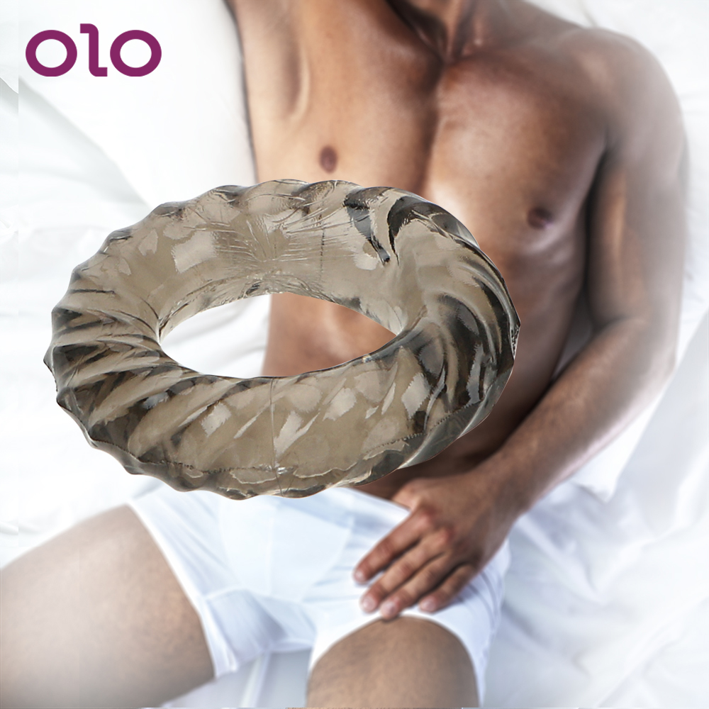 OLO Elastic Delay Ejaculation Male Longer Lasting Male Masturbator  Sex Toys For Men Male Penis Ring Cock Ring Silicone