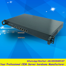 Lüfterlose 1HE Rack 4LAN Netzwerk Sicherheit/Router Barebone