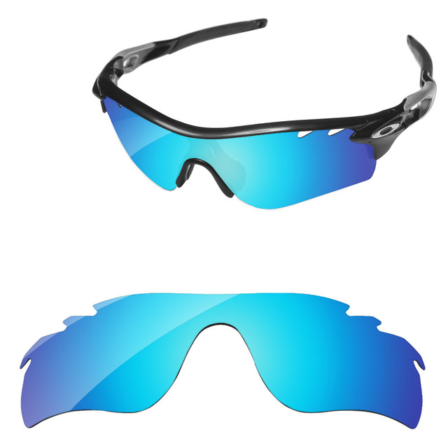 582ac4268a Azul hielo espejo polarizadas lentes para RadarLock camino ventilado gafas  de sol marco 100% UVA