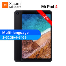 New Original Xiaomi Mi Pad 4 32GB/64GB Tablets 4 Snapdragon 660 AIE CPU 8'' 16:10 Screen Tablet 13MP Mi Pad 4 6000mAh Battery(China)