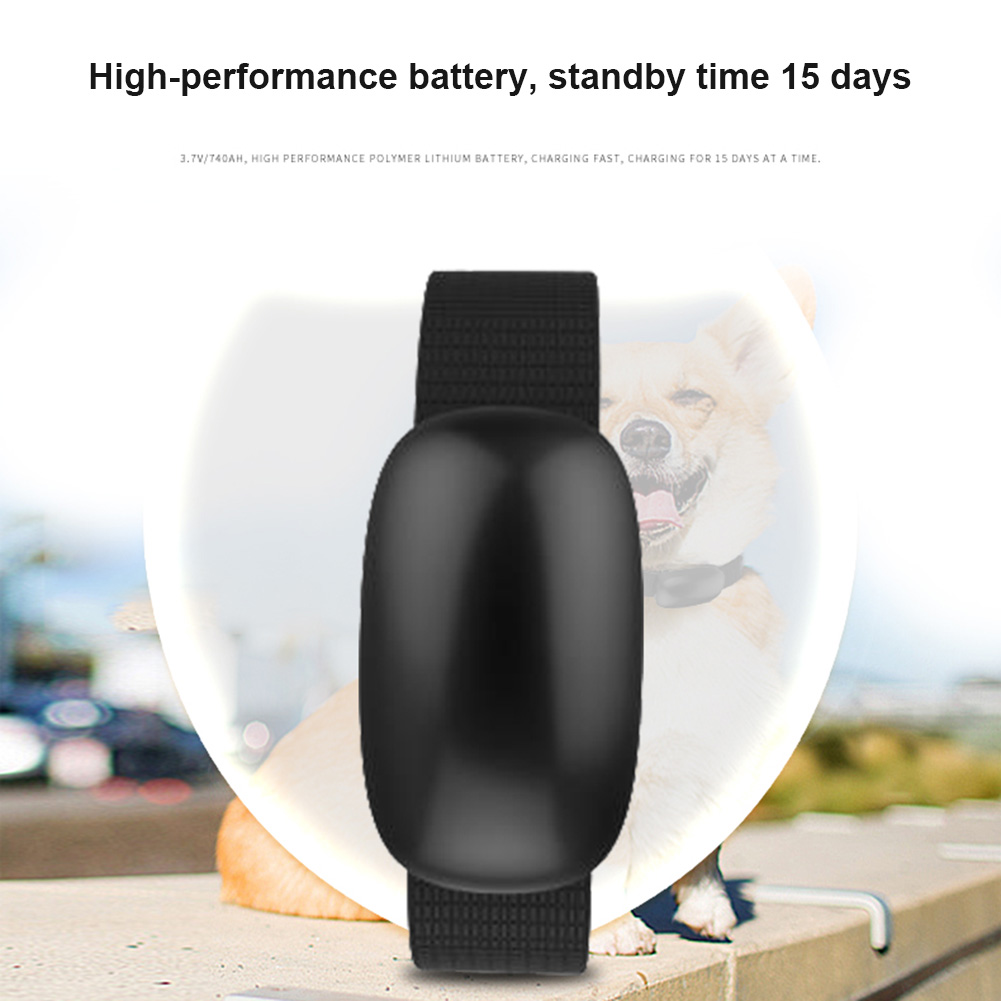 Waterproof Pet Dog Cat GPS Tracking Locator Collar Smart Real Time Anti-lost Positioning ...