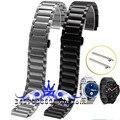 Luxo frete grátis 316L pulseira straps banda ligação metal para huawei inteligente relógio de aço inoxidável pulseira laço preto prata