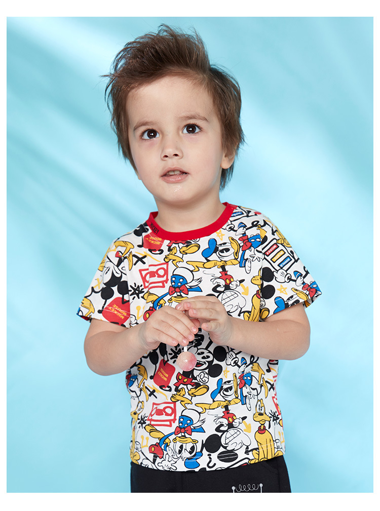 HTB1paolKOLaK1RjSZFxq6ymPFXaF - Disney children's clothes boys T-shIrt dress knitted Short-sleeve tshirt 2019 Summer Mickey fashion pure cotton camiseta t shirt
