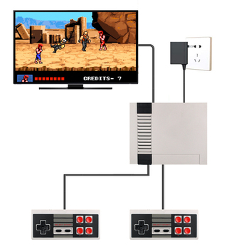 HDMI/AV Output Handheld Retro Video Game Console Mini TV Built-in Classic 500/600 Different games for 4K TV PAL & NTSC coolbaby hdmi out retro classic handheld game player family tv video game console childhood built in 600 games for nes mini p n