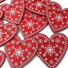 20 шт красный Ассорти День Святого Валентина деревянные кнопки ремесло карты украшают WB496