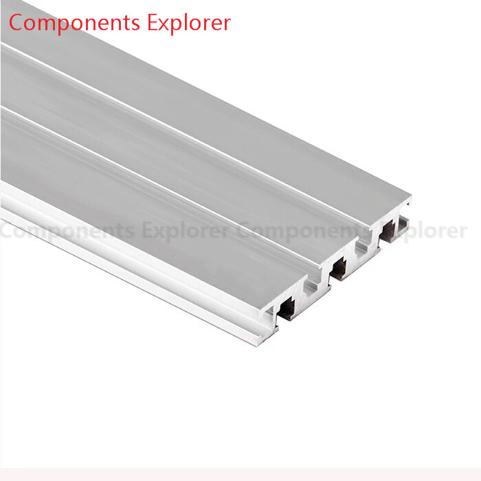 Arbitrary Cutting 1000mm 1590G Aluminum Extrusion Profile,Silvery Color.