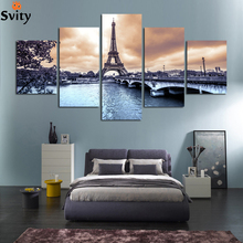 HD Printed The European cities construction scenery canvas Painting wedding decoration Modular wall Picture for living no frame