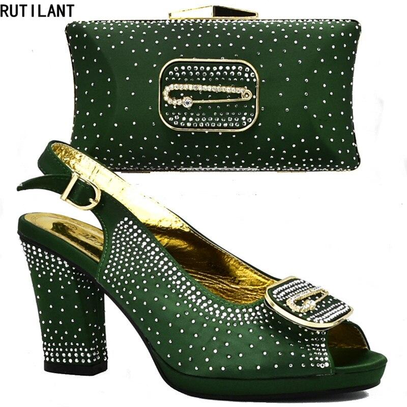 Imitación Para Zapatos Negro Bombas Bolso green Tacones Y Africano Partido Elegante Las Altos Mujeres Llegada Conjuntos De Nueva azul rojo yellow Señoras Diamantes Nigeria 6zqnWwFUxH