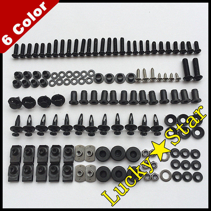 LoveMoto Full Motorcycle Fairing Bolt Screw Kit For Kawasaki ZX-12R 02 03 04 05 06 ZX12R 2002 2003 2004 2005 2006 New Body Screws Aluminum Fasteners Hardware Clips Black Silver