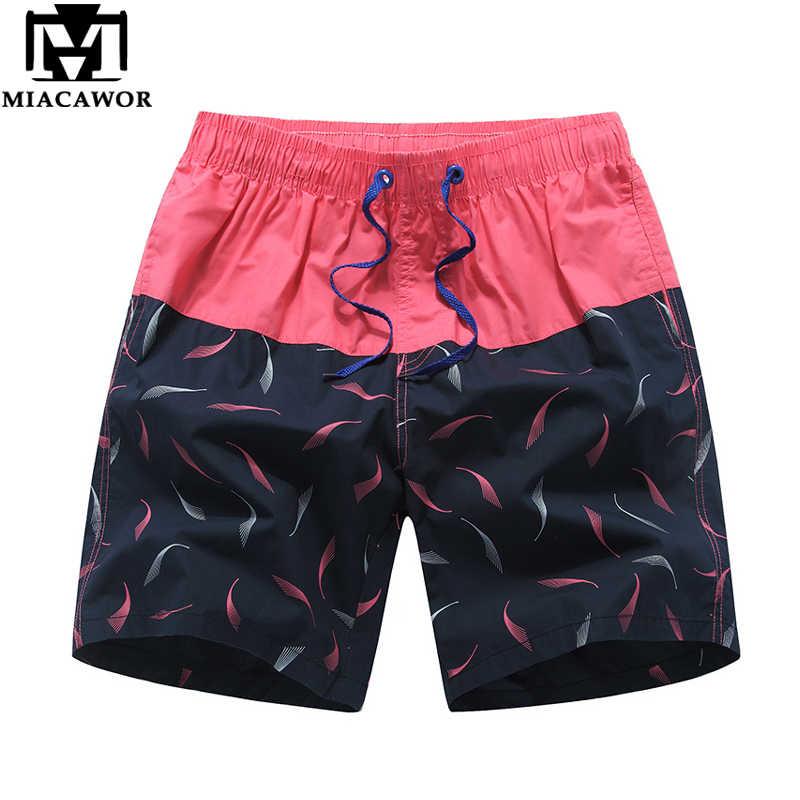 Miacawor новые Брендовые мужские шорты летние Пляжные шорты Модный принт Повседневное короткие мужские шорты Свободные Бермуды пляжные Шорты K833