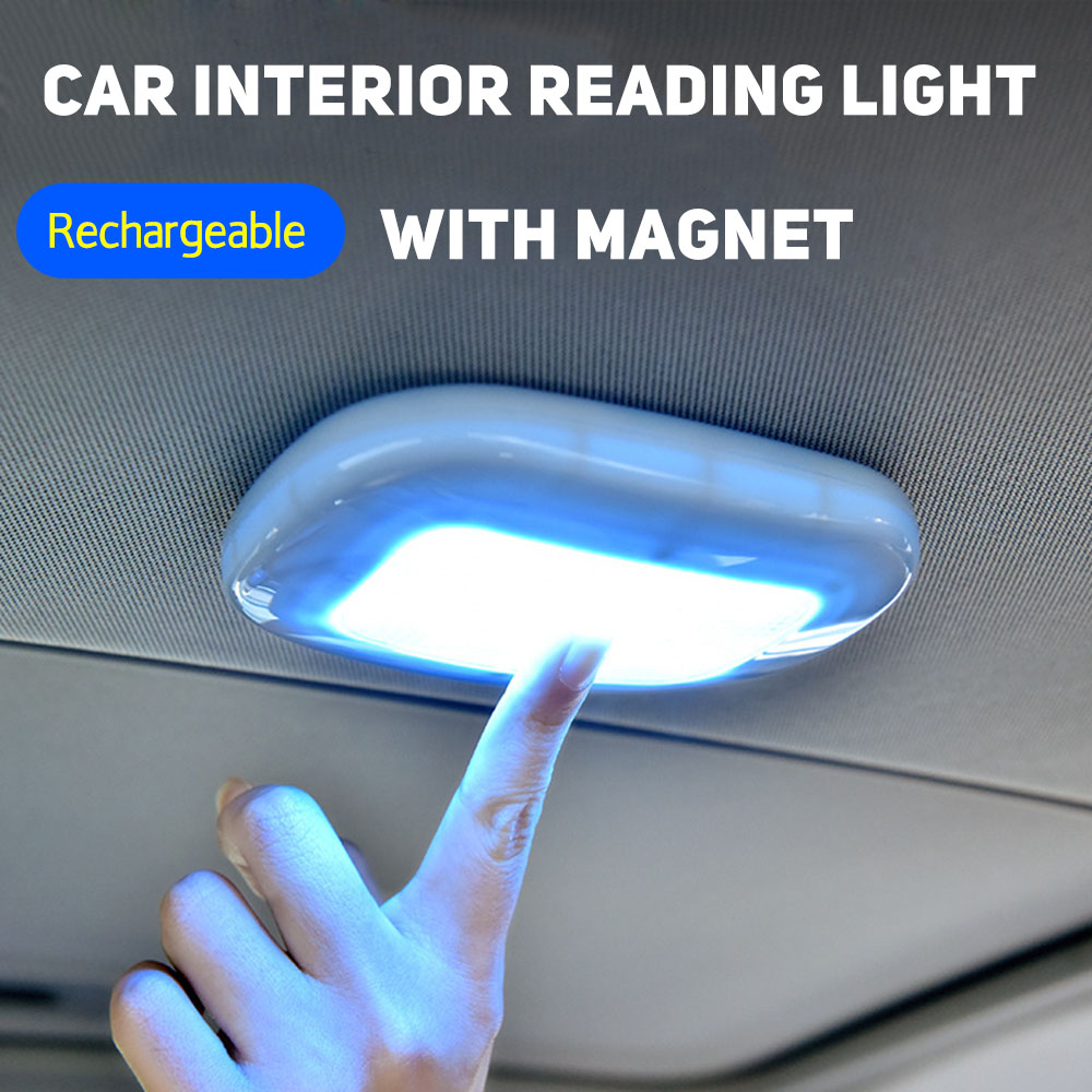 Car Interior Ceiling Lights Auto USB Charging Roof Magnet LED Light Trunk Drl Vehicle Indoor Reading Light For Car Accessories