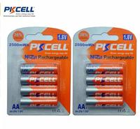 New PKCELL 8Pcs Bateria AA Battery Ni Zn 1 6V Nickel Zinc 2500mWh AA Rechargeable Batteries