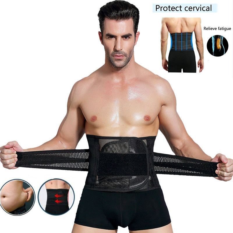 Waist Belt For Men New Abdomen Fat Burning Girdle Belly Body Sculpting Shaper Corset Cummerbund Tummy Slimming Belt Weight Loss