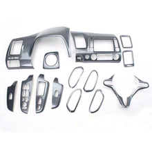 14Pcs For Honda Civic 8th Gen 2006 2011 ABS Carbon Fiber Style Car Interior Decor Cover Trim CD Panel Door Armrest Car Styling