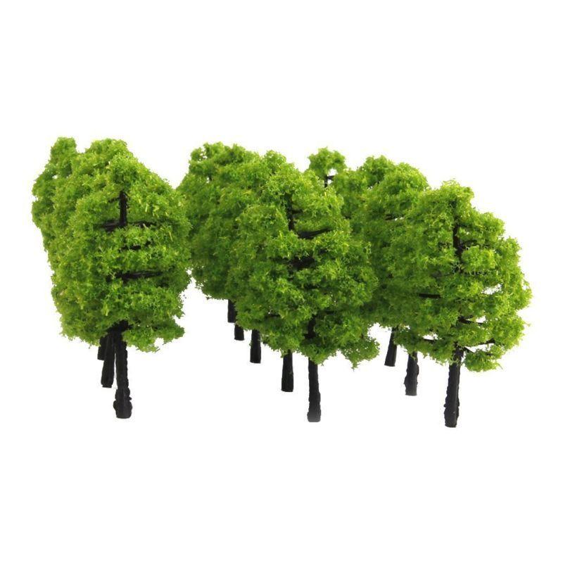 20pcs Model Trees Artificial Tree Train Railroad Scenery Architecture Tree 1:100