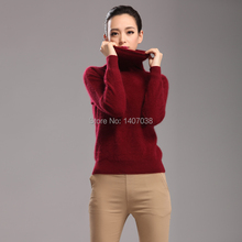 TAILOR SHEEP 2018 new 100% pure mink cashmere sweater female high collar pullover women thick warm soft sweater hedging