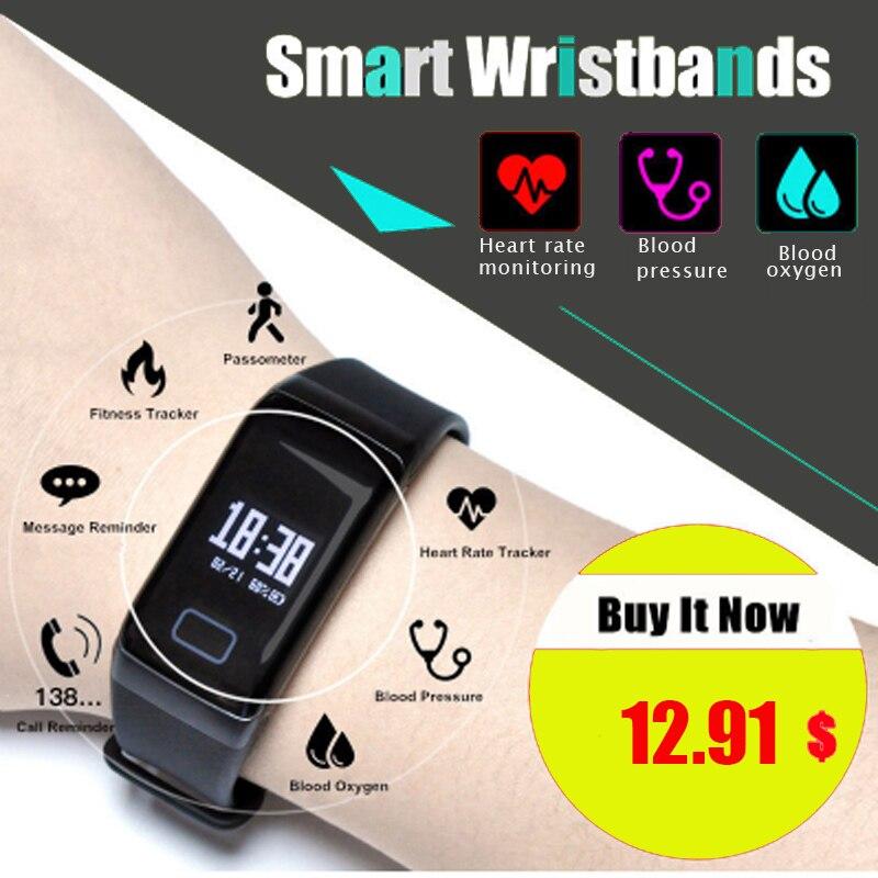 F1 Smart Band Blut Sauerstoff Blutdruck Uhren Fitness Sport Armband - Intelligente Elektronik