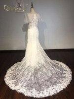Vestidos De Novia 2018 Mermaid Wedding Dresses New Sexy V Neck Appliques Lace Wedding Dress 2017