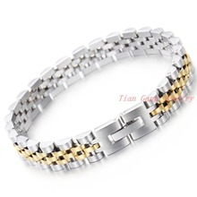 Hot Selling Stainless Steel Bracelets Bangles Fashion Jewelry 20Cm Length Silver Gold 316 Stainless Steel Men