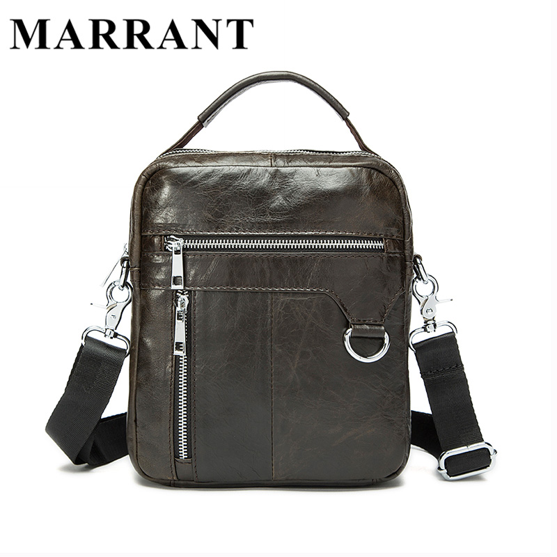 ФОТО MARRANT 100% Genuine Leather Men Bags Classic Male Crossbody Shoulder Handbag Man Fashion Messenger Bag Men Hot Sale Bags 9023