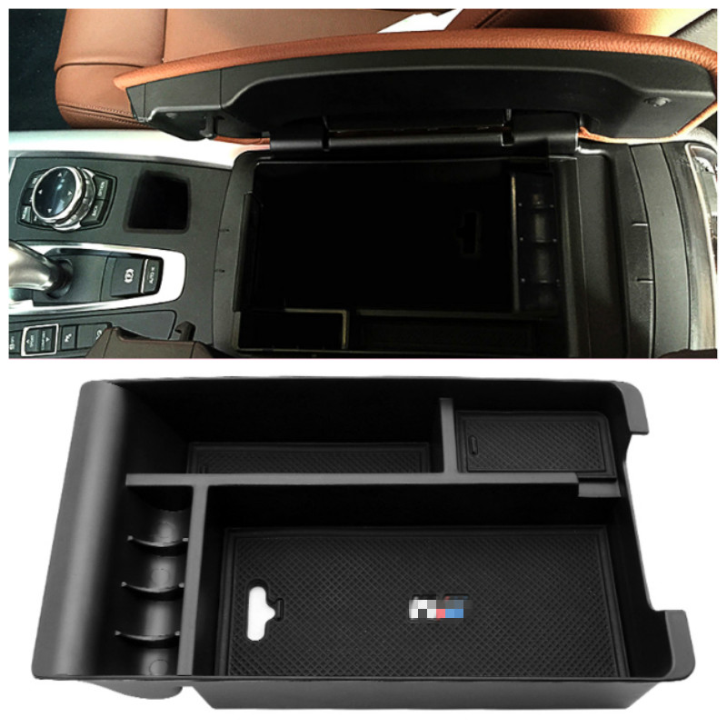 For BMW x5 f15 for bmw x6 f16 Car Center Console Armrest Storage Box Box Arm Rest Container Organizer Tray Interior AccessoriesFor BMW x5 f15 for bmw x6 f16 Car Center Console Armrest Storage Box Box Arm Rest Container Organizer Tray Interior Accessories