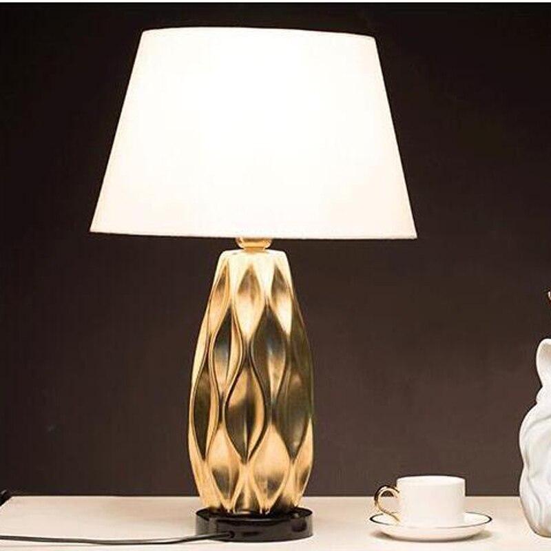 Керамика лампы настольные светильники спальня ночники гостиная простые современные модные теплые гостиная настольные лампы za1120403