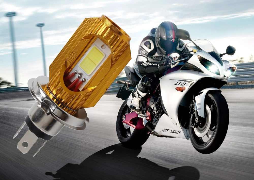 H4 светодиодная передняя фара для мотоцикла DC 8 V ~ 80 V 6 Вт * 2 800LM COB свет 6000 К 3000 9003 мопед скутер рулевой фонарь для мотоцикла