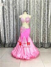 Живота Танцы Восточный танец индийских цыган Танцы танцы костюм костюмы одежда Бюстгальтер, пояс цепи шарф кольцо юбка комплект с платьем костюм 485