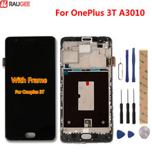 For Oneplus 3T Lcd Display +Touch Screen With Frame New Digitizer Touch Screen Panel Accessory Replacement For One Plus 3 A3010