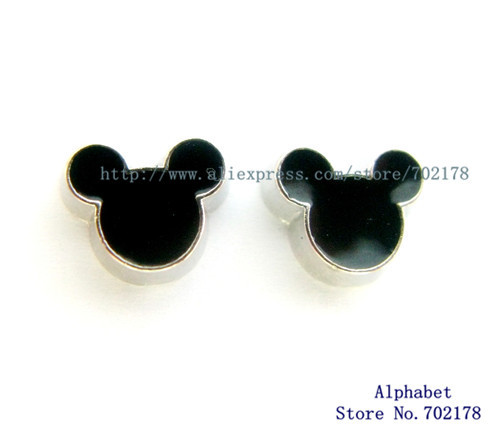 Hot Sale 10pcs Lovely Mouse Head Floating Memory Charms For Gift FC789