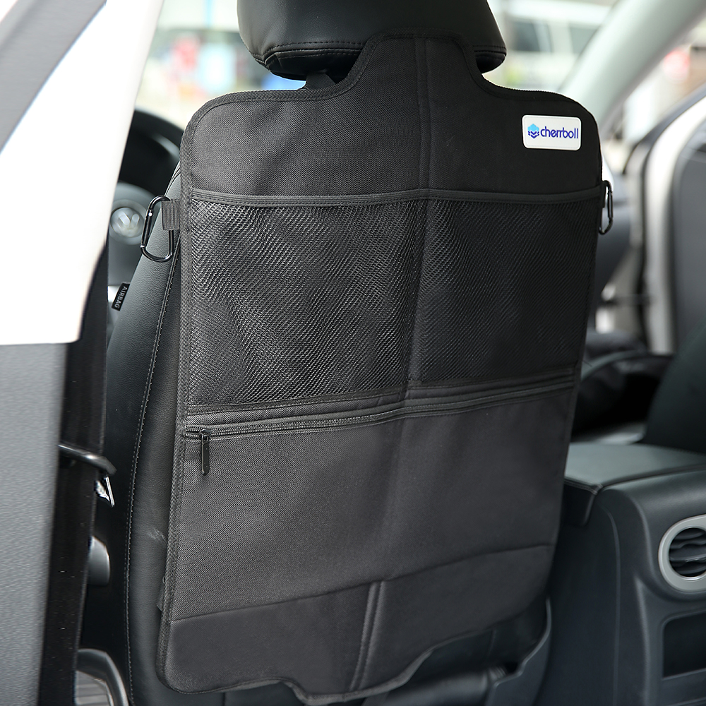 Cherrboll 1 PC Organizer Car Storage Bag Car Pocket Multi Function Pocket Travel Storage Bag Anti Kicking Pad For Kids