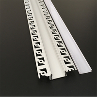 5 30pcs/lot 100cm led linear striip housing plaster board embedded led aluminium profile ,double row 20mm tape light channel